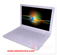 Free shipping 13.3 &14inch notebook computer W/option 4GB RAM 500GB & 6 cell battery slim Windows 7 Russian laptop PC camera