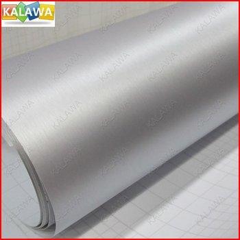 1 PC Silver Aluminum Brush Vinyl  car wrap color option aluminium vinyl car sticker 152*100CM  (1.52*1Meter)
