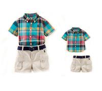 New, retails ,carter's kids, boys sports suit,T shirt +shorts , 1set/lot (no hat, no belt)2T-7T,--JYS82