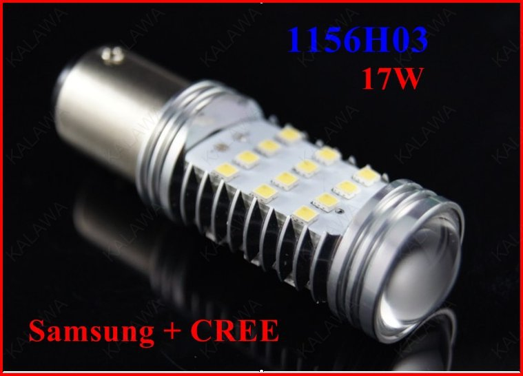 1 pair 17W 1156 Samsung +USA CREE chipset High Power LED lamp Foglamp Reverse Light Steer light Brake light #F FREESHIPPING(China (Mainland))