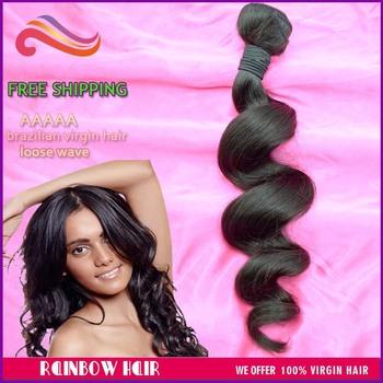 "Retail 1pcs lot loose wave 10"" ~30"" virgin bra-zilian hair weft hu-man hair weave wavy hair 100g/pc free shipping"