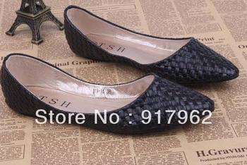 Best sellers pointed  boat shoes All-match Knit uppers  Soft bottom women's flats heel shoes USA size 4--10  Free shipping