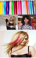Special fashion pick staining animation hair extension 22 color gradient color wig