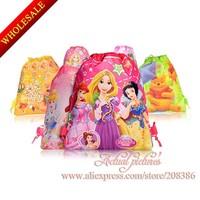 Free express shpping!100pcs New Child Cartoon Backpack Bags<kids Drawstring Backpack Bags< Kids Cartoon handgbag,34*27cm