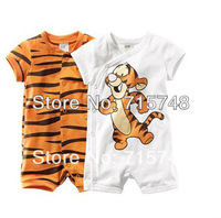 retail boy short sleeve romper baby cotton bodysuits Ronny Turiaf design jumpsuits cartoon tiger bodysuits Free shipping