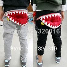 Free shipping, Big month Trousers,Boys Girls pants,zipper trousers,  baby casual pants long trousers KKZ19A04(China (Mainland))
