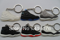 Free shipping (4 colors) AJ 11 2D Shoes Keychain,basketball keychain,Sneaker Key Ring,min order 5 pcs(China (Mainland))
