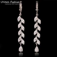 Elegant Long Drop Water Earring Women Dating Platinum Glod Plated