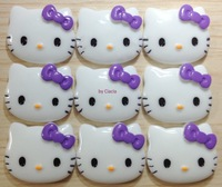 Purple Bow Hello Kitty Face Deco Kits 22*27mm for Hand-made Gift DIY
