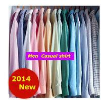 Men Autumn Fashion Casual  slim Fit  shirts   Brand  long sleeve Plaid   denim camisa  shirt CNJF050 XS S M L XL XXL XXXL