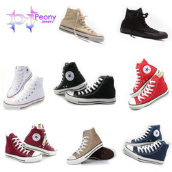 Free Shipping Unisex 8 Colors Men Women Fashion High Style Canvas Shoes Laced Up Casual Breathable Sneakers Wtih Box PS002(China (Mainland))