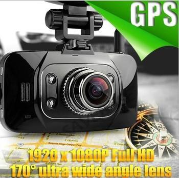 "Ambarella GS8000  Car DVR GPS FLD 1920*1080P Full HD Motion Detection Night Vision 170 Wide Angle HDMI 5M Camera 2.7"" LCD"
