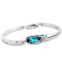 S925 Bangle  Austria Blue crystal special design  Fashion Bangle With High Quality  Fashion Jewelry