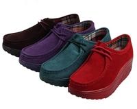 Genuine leather women's shoes were the shoes platform shoes thick soles single shoes