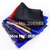 Hot Sale! Wholesale New Fashion Men Silk Pocket Squares Pocket Towel Handkerchief, Gift for Men + Free Shipping 10PCS #1368A
