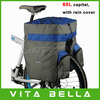 60L Waterproof Cycling Travel Pannier Bag,3 In 1 Multi-functional Bike Bicycle Rear Seat Backpack With Rain Cover Free Shipping