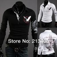 t shirt 2014 New brand Mens T Shirt Men's long Sleeve T Shirt slim fit men shirt fashion t-shirt plus XXXL