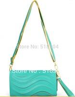 2013  arriver Long design brief simple the waves candy 12 color one shoulder small bag women's handbag clutch bag women's wallet