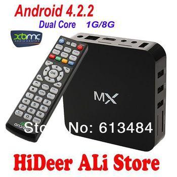 MX google TV set top box Thin Client Google Amlogic 8726-MX Cortex A9 Dual core 1.5GHz 1GB RAM 8GB Flash XBMC support M6 EM6