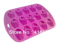 Silikit Free shipping wholesale 100% silicone cake mould baking tools silicon molds 3d soap mold baking supplies15 madeleine