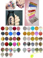 100Packs (53Designs) Transfer Foil Nail Polish Stickers 9*6cm/pack Free Shipping 4UNL15