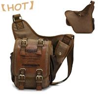KAUKKO brand irregular vintage casual school bags canvas travel bags men messenger bag man shoulder bags  FH03