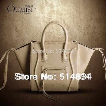 Deal 2014 woman tote smile bags,desigual Women handbag fashion brand pu leather phantom smiley bag for women,free shipping