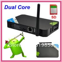 QT960-A2 TV Box with Android 4.2.2 Allwinner A20 Cortex-A7 Dual Core 1.5GHz RAM 1GB ROM 4GB WIFI HDMI OTG RJ45 SD Card