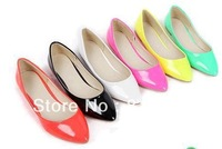 Fashion women shoes solid candy color patent PU shoes women flats new 2014 sapatilhas femininos ballet princess shoes for casual