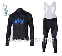 New model winter thermal SKY Team Summer/Winter long sleeve Cycling Jersey/Cycling Clothing/Wear BIB Short Bib Pant bike clothes