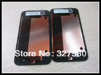 High quality Back case Glass Battery Housing Door Cover Replacement Part GSM for iphone4 4s Black White 100pcs+DHL free shipping
