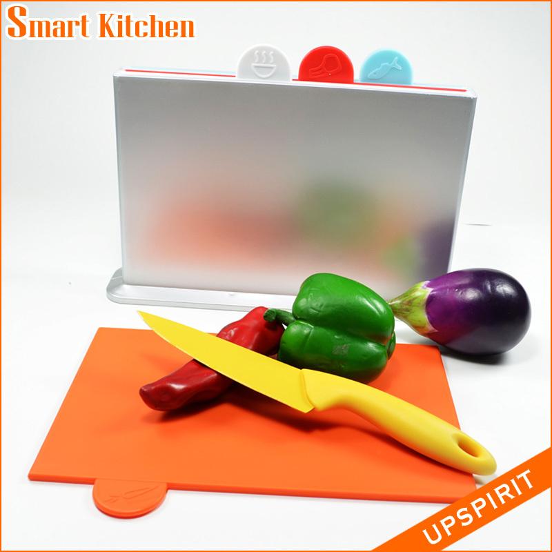 1set New kitchen cutting board meat fruit chopping board colored chopping board set cooking tools plastic board cutting(China (Mainland))