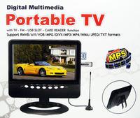 7.5 inch LCD Mini Television with  AV In/AV Out, FM Radio,SD, USB card reader