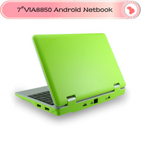 """Laptop DHL Freeshipping 7"""" Mini Netbook VIA 8850 DDR3  HDD  Android 4.1 HDMI Camera WIFI RJ45 for students"""