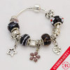 EB 2013 Hot Sale woman's magic bracelet silver plated muti collor  beads charm Bracelet/Free Shipping By CPAM