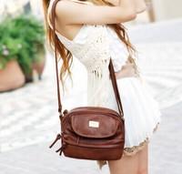 Promotion 2015 Double zipper crown fashion women shoulder bag women leather handbags women messenger bags women handbag