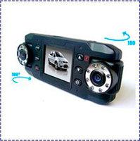Dual Camera IR Infrared Night Vision GPS G-Sensor X8000C Car DVR 140 degree wide angle 180 degree rotary lens