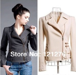 2013 Spring and Autumn the new Women intellectual woman jacket Korean short long-sleeved Slim small jacket(China (Mainland))