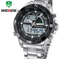Top Sale WEIDE Men Sports Watch Multi-function Military Watch for Men Quartz Relogio Masculino Analog-Digital 12-month Guarantee