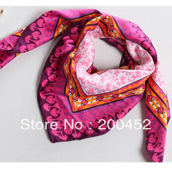 Free shipping! Ladies'  Fashion Multicolor  print square big scarf  shawl wrap(SL0325DFC)
