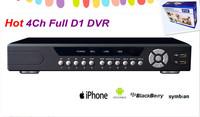 Free Shipping 4CH 4 Channel D1 H.264 CCTV Surveillance Network DVR Video Audio Recorder