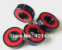 Freeshipping 608 2RS Skate Wheel Bearing Blacken Anti-rust 8x22x7 Skateboard Wheel Bearing Red Sealed ABEC-5