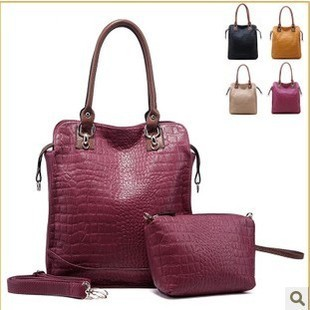 Promotion Hot WEIDIPOLO Brand composite brand women handbag crocodile leather fashion red shoulder messenger bag freeship86242
