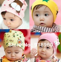 Baby hat cap Kid Infant Hat Beanie Boys&Girls hat Skull Head Cap 10PCS/Lot  For 1-3 Years 30Colors Animal pattern free shipping