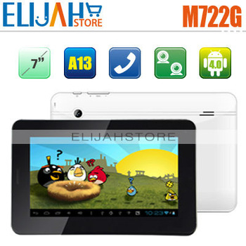 In Stock Aoson M722G Phone Call Tablet PC Allwinner A13 7'' Multi-touch Capacitive Dual Camera Android 4.0 Color