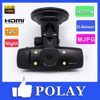 Full HD1920*1080P Vehicle camera Car Blackbox Accident cam video DVR Night Vision 4 IR  G-sensor HDMI AV out Free Shipping