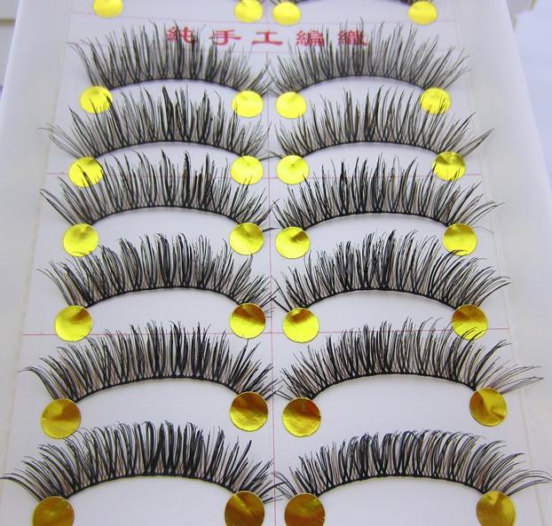 Main dense, 10 paire. d'épaisseur. naturelles faux cils cils faux cils volumineux artificiels, maquillage. sl07