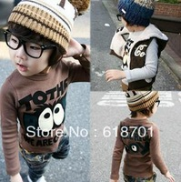 2013 New Arrival Big Eyes Boys Girls Baby T-shirt Children Clothes Kid Wear For Spring/Autunm Free Shipping