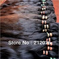 "12-34""inches High quality Mix length Peruvian virgin hair extension *Remy human hair*10pcs/lot* Bulk hair"