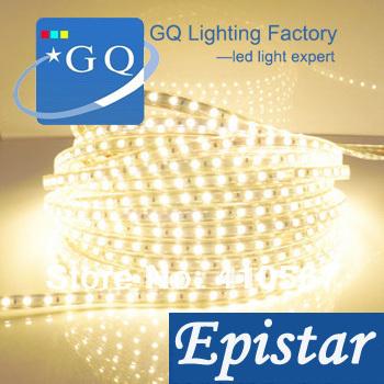 fast shipping 3528 led strip 220V 230v 240v high voltage ribbon string  +4pcs European Plug+100pcs clips+20pcs end caps